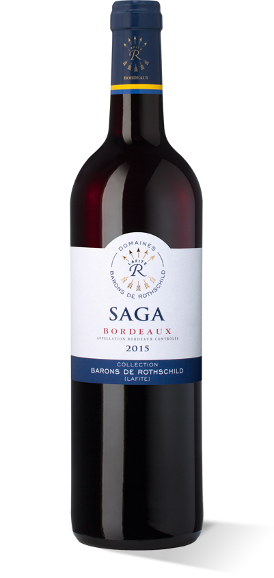Saga Bordeaux rouge 2015
