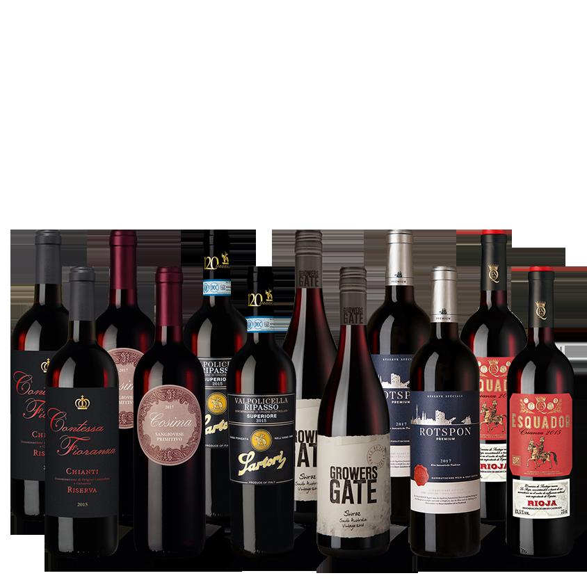 Vinpaket Rött Urval