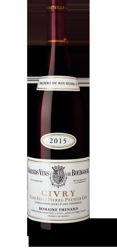 Baron Thénard Clos Saint Pierre rouge 2015